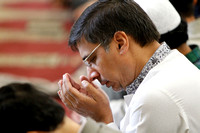 Nadeem Qureshi worships during the first service at the new Islamic Center in Murfreesboro, Tennessee
